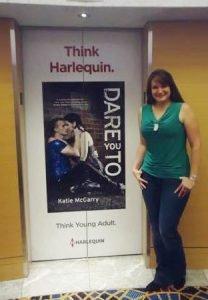 Katie McGarry elevator door at RWA Atlanta