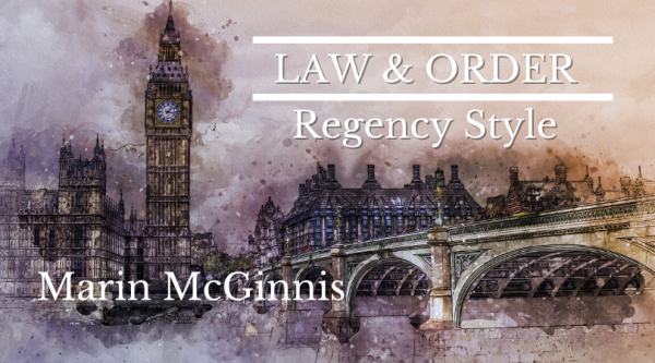 Law and Order Regency Style with Marin McGinnis - London cityscape in background