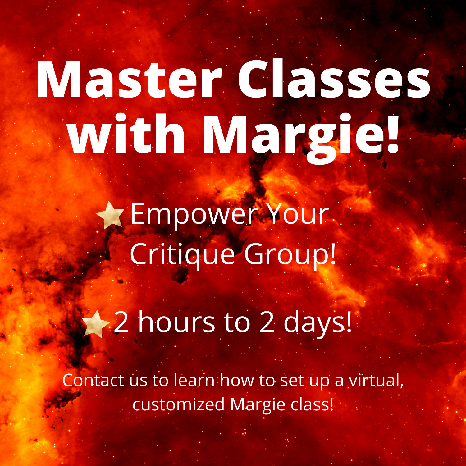 Master Classes with Margie - Empower Your Critique Group!