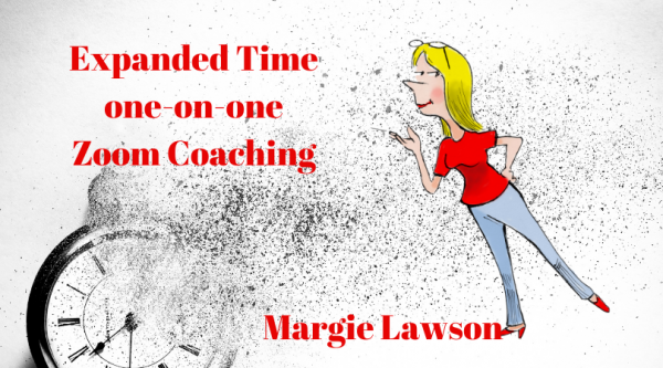 Expanded Time one-on-one Zoom Coaching with Margie Lawson