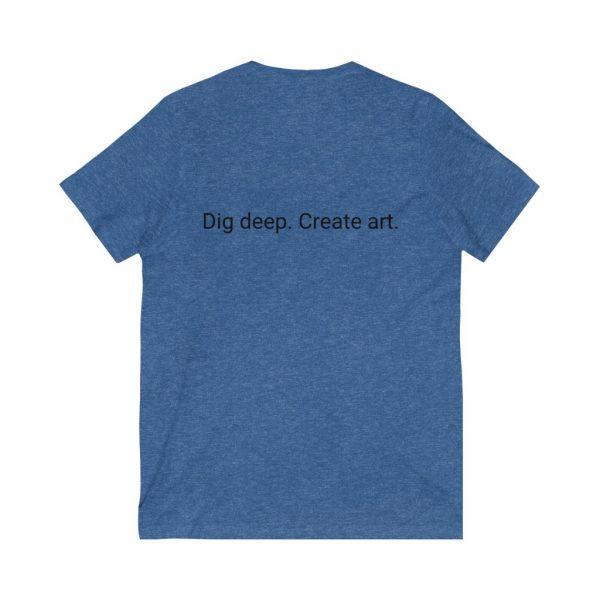 Dig Deep. Create Art. LWA Unisex Jersey Short Sleeve V-Neck Tee 10