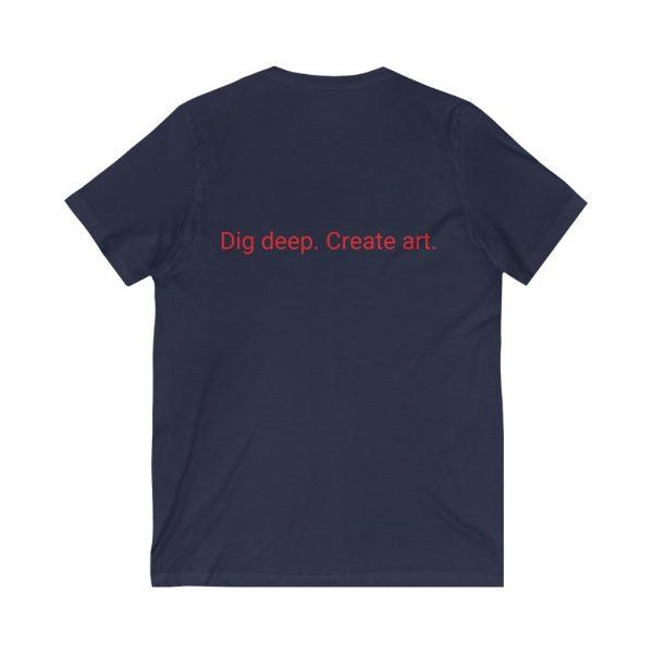 Dig Deep. Create Art. LWA Unisex Jersey Short Sleeve V-Neck Tee 14