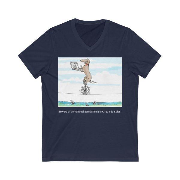 Unisex Jersey Short Sleeve V-Neck Tee 4