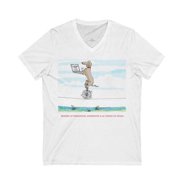 Unisex Jersey Short Sleeve V-Neck Tee 1