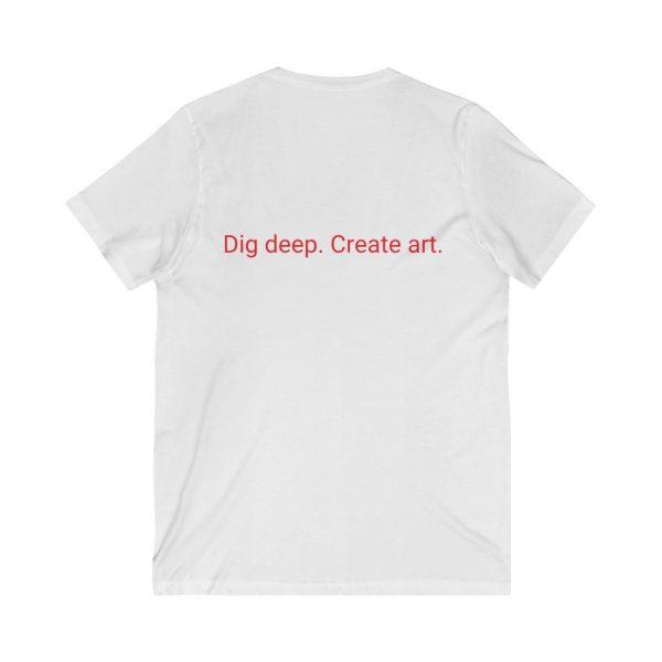 Dig Deep. Create Art. LWA Unisex Jersey Short Sleeve V-Neck Tee 2