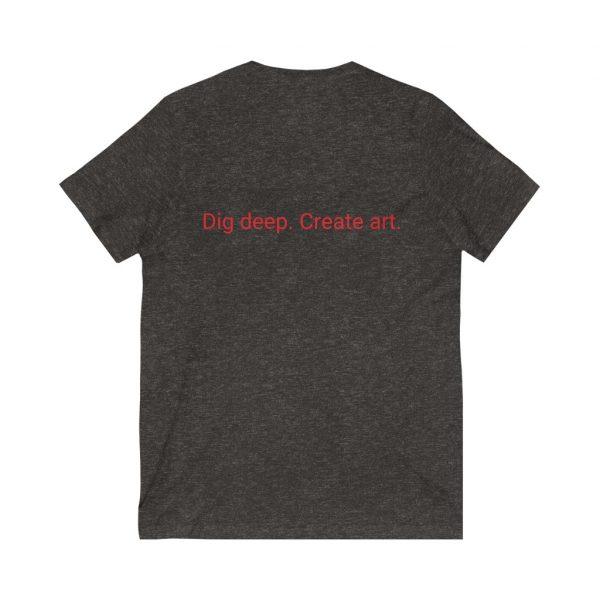 Dig Deep. Create Art. LWA Unisex Jersey Short Sleeve V-Neck Tee 6